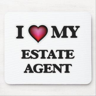 Amo mi agente de la propiedad inmobiliaria alfombrilla de raton