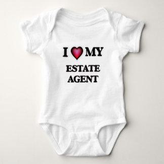Amo mi agente de la propiedad inmobiliaria body para bebé