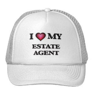 Amo mi agente de la propiedad inmobiliaria gorros bordados
