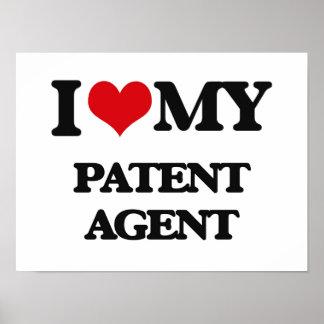 Amo mi agente de patente impresiones