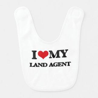 Amo mi agente de tierra baberos para bebé