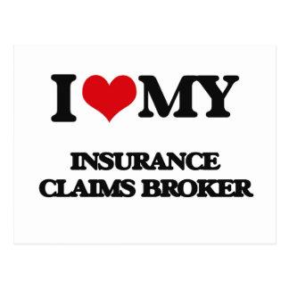 Amo mi agente del crédito de seguro tarjeta postal