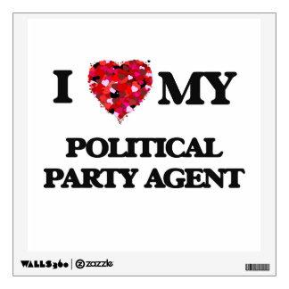 Amo mi agente del fiesta político