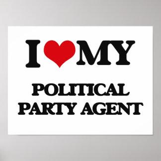 Amo mi agente del fiesta político póster