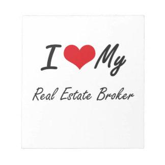 Amo mi agente inmobiliario blocs de papel