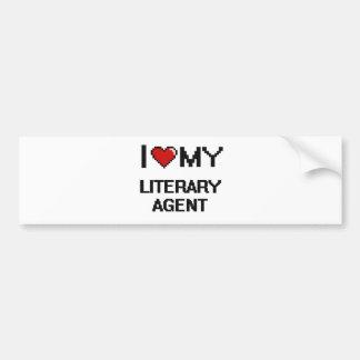 Amo mi agente literario pegatina para auto