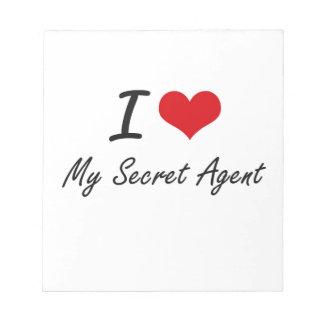 Amo mi agente secreto libretas para notas