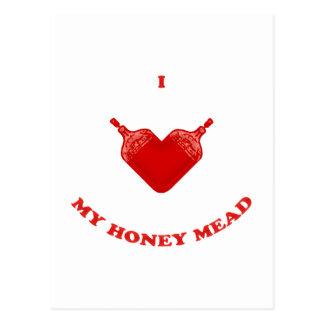 Amo mi aguamiel de la miel tarjetas postales
