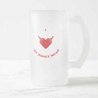 Amo mi aguamiel de la miel taza de cristal