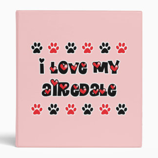 "Amo mi Airedale Carpeta 1"""