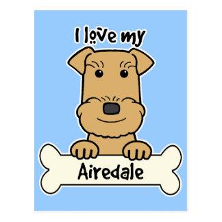 Amo mi Airedale Postales