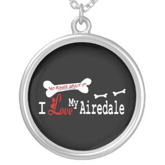 Amo mi Airedale Terrier Colgante Redondo