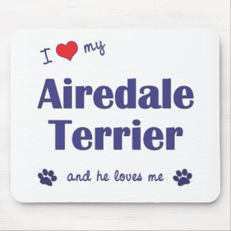 Amo mi Airedale Terrier (el perro masculino) Alfombrillas De Raton
