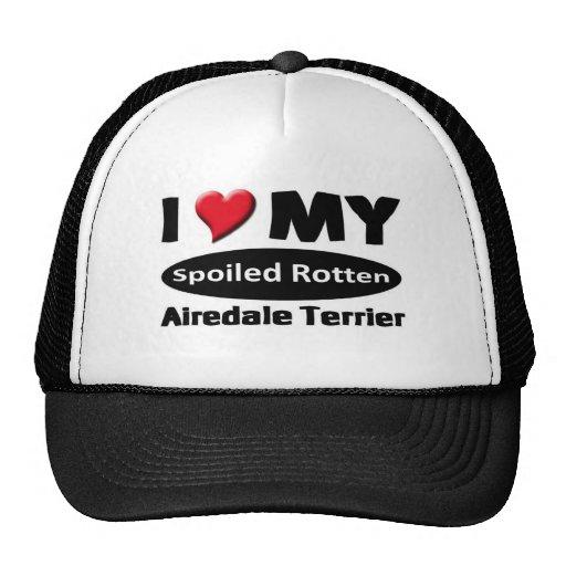 Amo mi Airedale Terrier Gorro