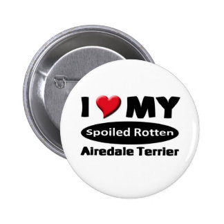 Amo mi Airedale Terrier Pins