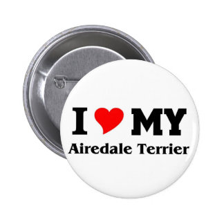 Amo mi Airedale Terrier Pin