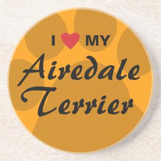 Amo mi Airedale Terrier Posavasos Diseño