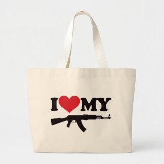 Amo mi AK47 Bolsa Tela Grande