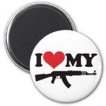 Amo mi AK47 Imán Redondo 5 Cm