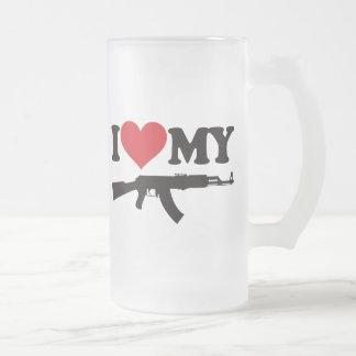 Amo mi AK47 Taza De Cristal