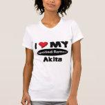 Amo mi Akita putrefacto estropeado Camisetas