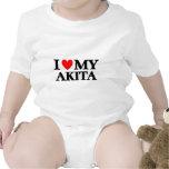 Amo mi Akita Traje De Bebé