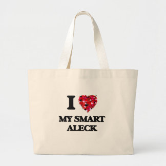 Amo mi Aleck elegante Bolsa Tela Grande