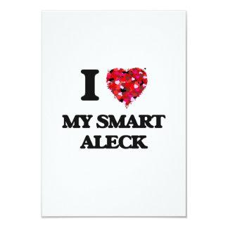 """Amo mi Aleck elegante Invitación 3.5"""" X 5"""""""
