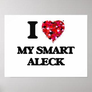Amo mi Aleck elegante Póster