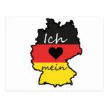 Amo mi Alemania Tarjeta Postal
