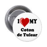 Amo mi algodón De Tulear Dog Pin Redondo 5 Cm