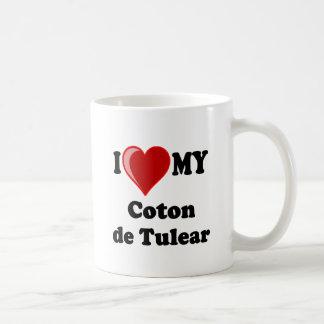 Amo mi algodón De Tulear Dog Taza De Café