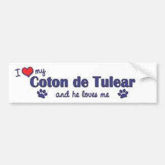 Amo mi algodón de Tulear (el perro masculino) Pegatina Para Auto