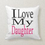 Amo mi almohada del rosa de la hija