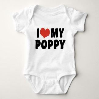 Amo mi amapola body para bebé