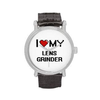 Amo mi amoladora de la lente relojes de mano