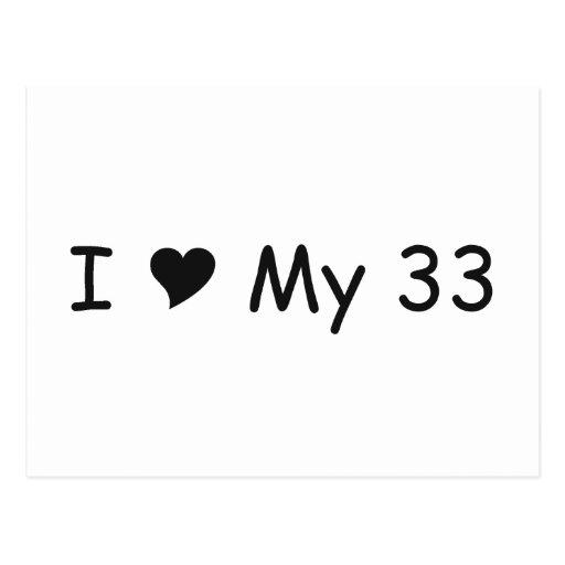 Amo mi amor de 33 I mis regalos por Gear4gearheads Postales