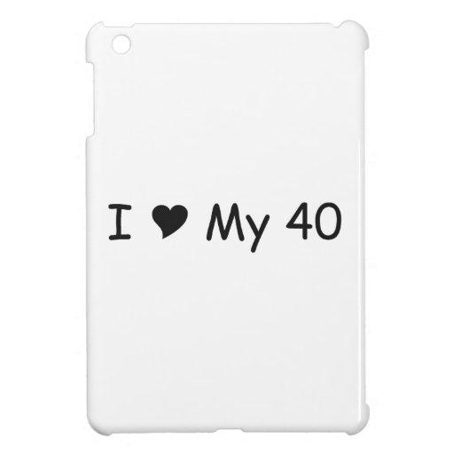 Amo mi amor de 40 I mis regalos por Gear4gearheads iPad Mini Protector