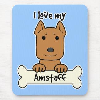 Amo mi Amstaff Tapete De Ratón