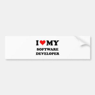 Amo mi analista de programas informáticos etiqueta de parachoque
