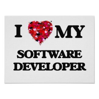 Amo mi analista de programas informáticos póster