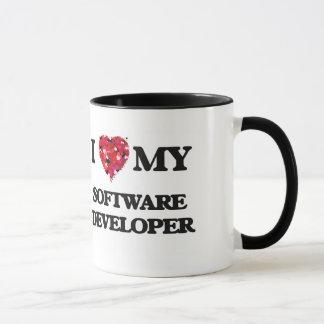 Amo mi analista de programas informáticos taza