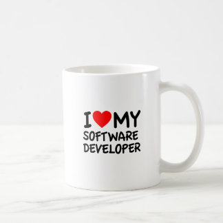 Amo mi analista de programas informáticos tazas
