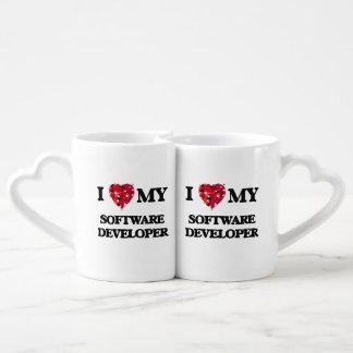 Amo mi analista de programas informáticos taza amorosa