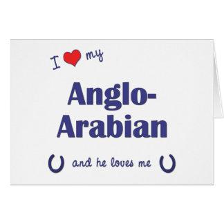 Amo mi Anglo-Árabe (el caballo masculino) Tarjeton