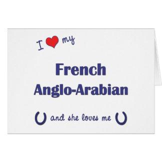 Amo mi Anglo-Árabe francés (el caballo femenino) Tarjeton