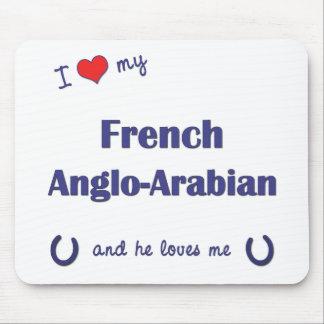 Amo mi Anglo-Árabe francés (el caballo masculino) Alfombrillas De Ratón