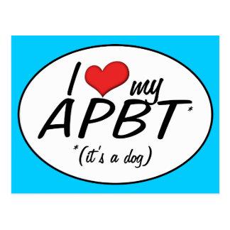 Amo mi APBT (es un perro) Postales