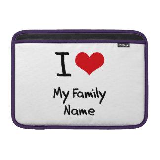 Amo mi apellido funda  MacBook