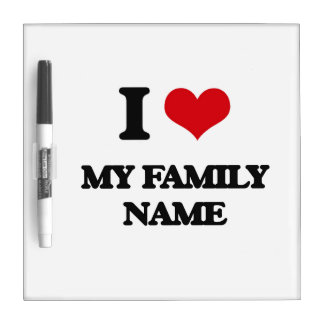 Amo mi apellido tableros blancos